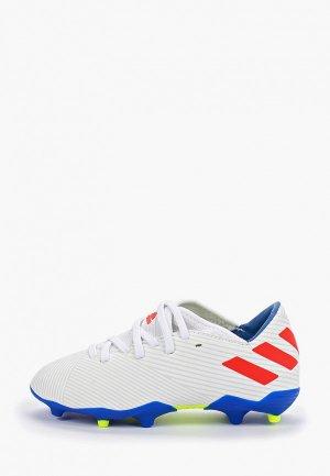 Бутсы adidas NEMEZIZ MESSI 19.3 FG J. Цвет: белый