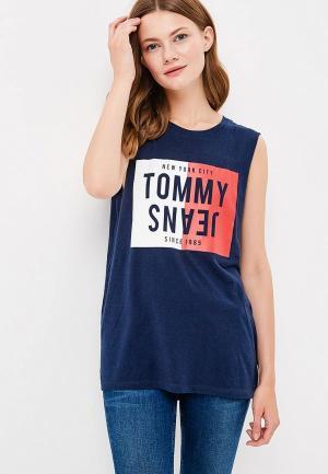 Майка Tommy Jeans. Цвет: синий