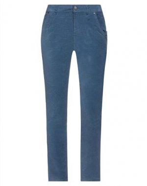 Повседневные брюки BSB. Цвет: пастельно-синий