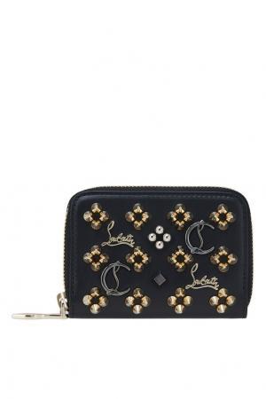 Кожаный кошелек W Panettone Coin Purse Christian Louboutin. Цвет: черный