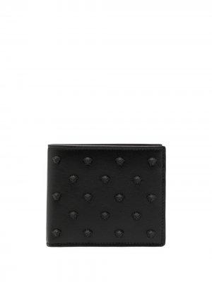 Бумажник с декором Medusa Versace. Цвет: черный