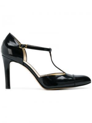 Туфли с T-образным ремешком Antonio Barbato. Цвет: черный