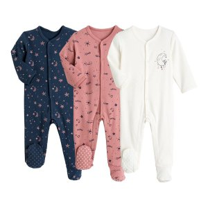 Комплект из 3 пижама LaRedoute. Цвет: розовый