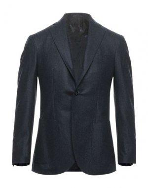 Пиджак BARBA Napoli. Цвет: темно-синий