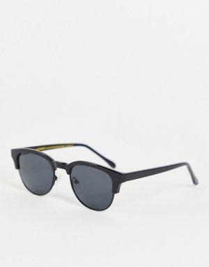Черные квадратные солнцезащитные очки в стиле унисекс Club Bate-Черный цвет A.Kjaerbede