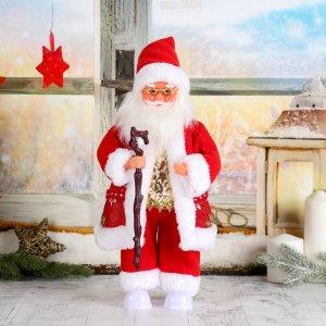 Дед мороз, в очках, валенках и красной шубке, без музыки, двигается, с подсветкой Зимнее волшебство