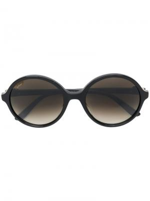 Солнцезащитные очки в круглой оправе Cartier. Цвет: коричневый
