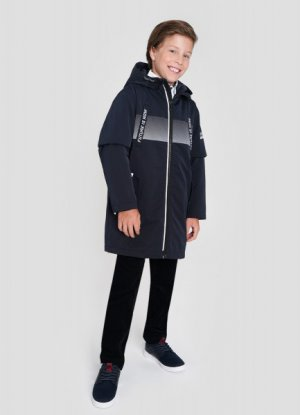 Куртка для мальчиков O`Stin. Цвет: черно-синий