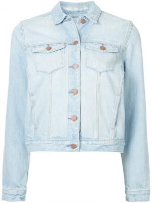 Классическая джинсовая куртка Nobody Denim. Цвет: синий