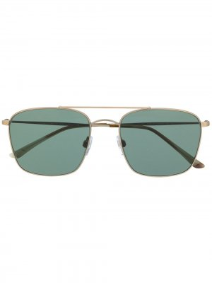 Солнцезащитные очки в прямоугольной оправе Giorgio Armani. Цвет: серебристый