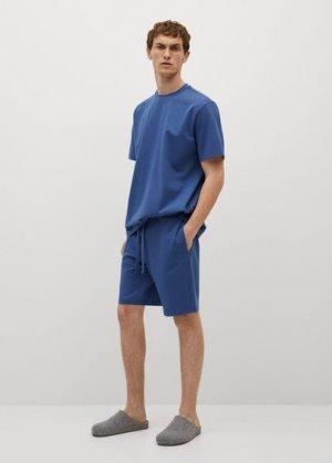 Пижамные брюки из хлопка - Adriatic Mango. Цвет: индиго