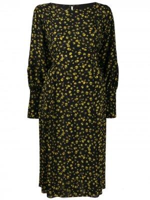 Платье с длинными рукавами Erika Cavallini. Цвет: черный
