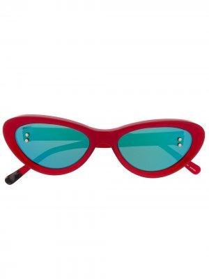 Солнцезащитные очки в оправе кошачий глаз Doublet. Цвет: красный