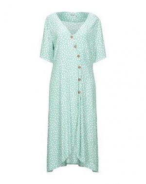 Платье длиной 3/4 DRY LAKE.. Цвет: бирюзовый
