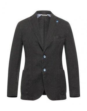 Пиджак EXIGO. Цвет: темно-коричневый