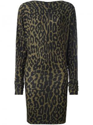 Платье с леопардовым принтом Alexandre Vauthier