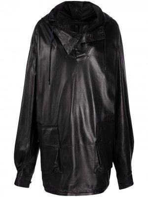 Пальто с воротником-хомутом Petar Petrov. Цвет: черный