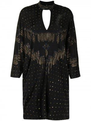 Rhinestone-embellished batwing dress Camilla. Цвет: черный