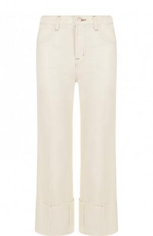 Однотонные укороченные джинсы J Brand. Цвет: белый