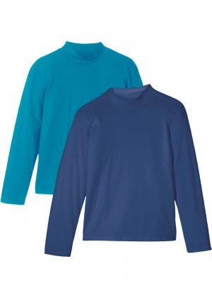 Водолазка (2 шт.) bonprix. Цвет: синий