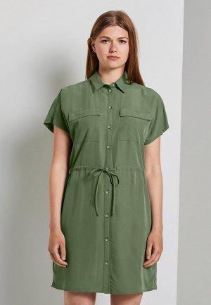 Платье Tom Tailor Denim. Цвет: зеленый