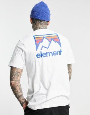 Белая футболка с принтом на спине Joint-Белый Element