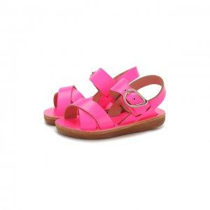 Кожаные босоножки Ancient Greek Sandals. Цвет: розовый