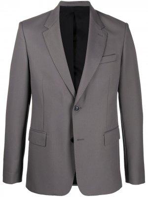 Однобортный костюмный пиджак AMI Paris. Цвет: серый