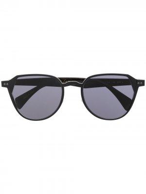 Солнцезащитные очки в круглой оправе Yohji Yamamoto. Цвет: 002 черный