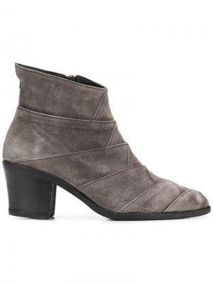 Ботинки Milu на массивном каблуке Fiorentini + Baker. Цвет: серый