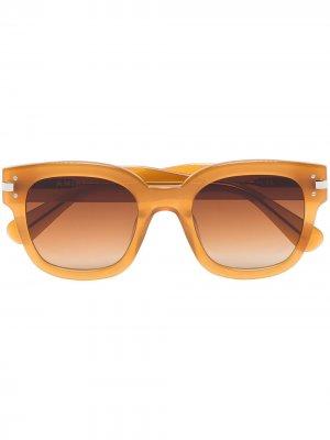Солнцезащитные очки в квадратной оправе AMIRI. Цвет: коричневый