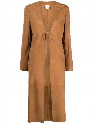 Пальто с завязками Alysi. Цвет: коричневый
