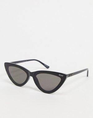 Черные солнцезащитные очки в оправе «кошачий глаз» Quay Flex-Черный Australia