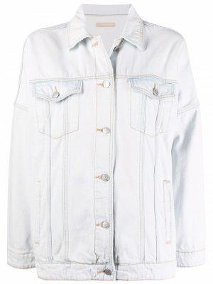 Джинсовая куртка прямого кроя 12 STOREEZ. Цвет: синий