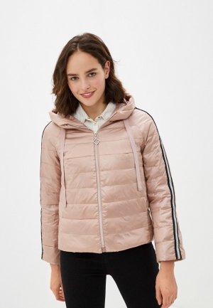 Куртка утепленная Clasna. Цвет: розовый