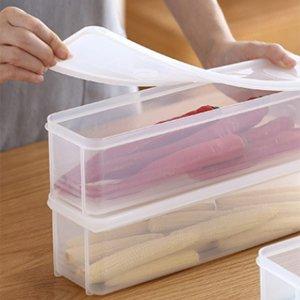 1шт Прозрачный контейнер для пищевых продуктов SHEIN. Цвет: прозрачный