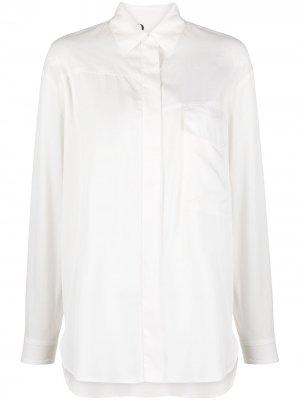 Рубашка с косым воротником 8pm. Цвет: нейтральные цвета