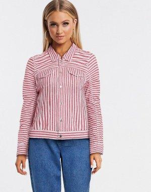 Красная джинсовая куртка в полоску Blank NYC-Мульти NYC