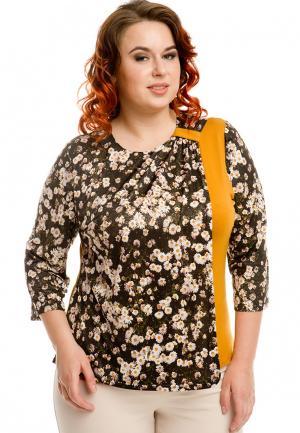 Блуза Luxury Plus. Цвет: разноцветный