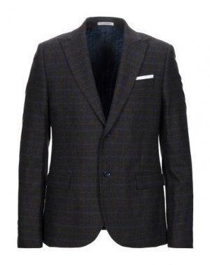 Пиджак GREY DANIELE ALESSANDRINI. Цвет: темно-коричневый