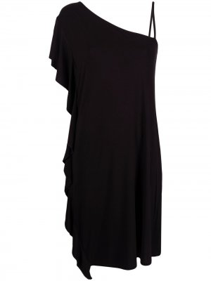 Платье мини асимметричного кроя LIU JO. Цвет: черный