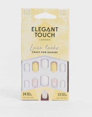 Накладные ногти – Crazy for Daisies-Желтый Elegant Touch