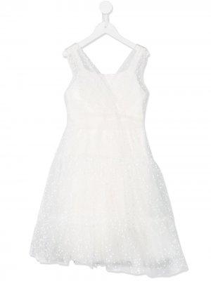 Декорированное пышное платье Aletta. Цвет: белый