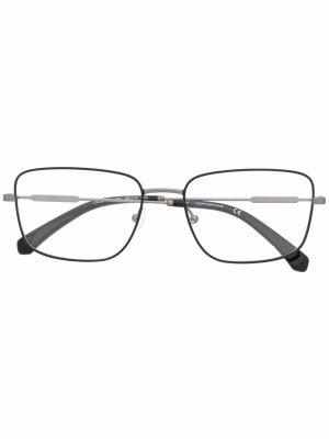 Очки в квадратной оправе Calvin Klein Jeans. Цвет: черный
