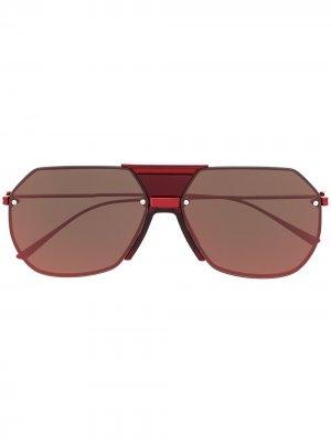 Солнцезащитные очки-авиаторы Bottega Veneta Eyewear. Цвет: красный
