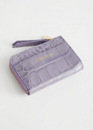 Небольшой кошелек Charm &Other Stories. Цвет: пурпурный