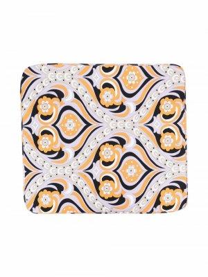 Одеяло с принтом Emilio Pucci Junior. Цвет: фиолетовый