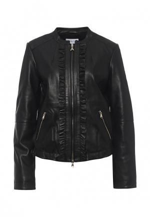 Куртка кожаная Patrizia Pepe PA748EWPAF29. Цвет: черный