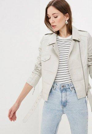 Куртка кожаная Softy. Цвет: серый