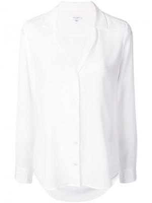Рубашка с V-образным вырезом Equipment. Цвет: белый